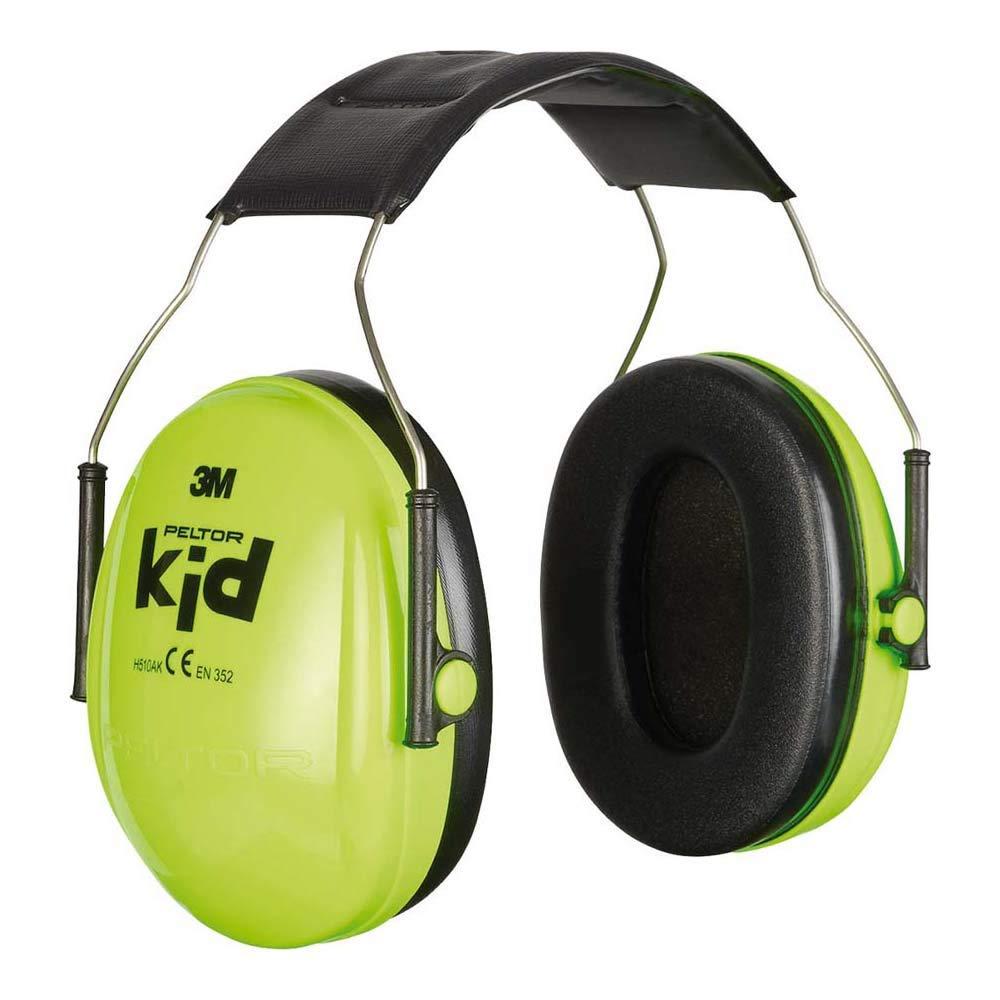 3M Peltor Kid -Auriculares con cancelación de ruido para niños sensibles a ruidos fuertes - Atenuación 27 dB, Verde Neón, Small
