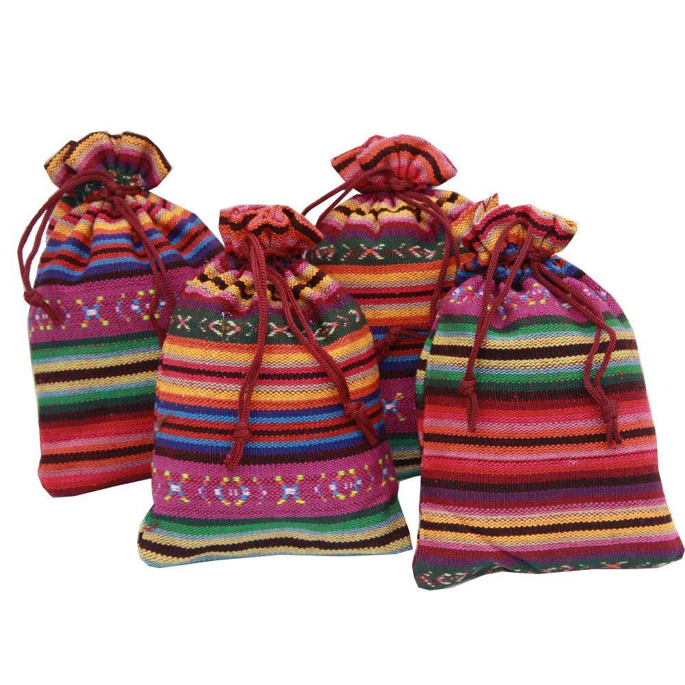 4 saquitos de algodón de lino 2020, 14x10cm, con lavanda ecológica muy aromática, 4x30gr = 120gr, multicolor