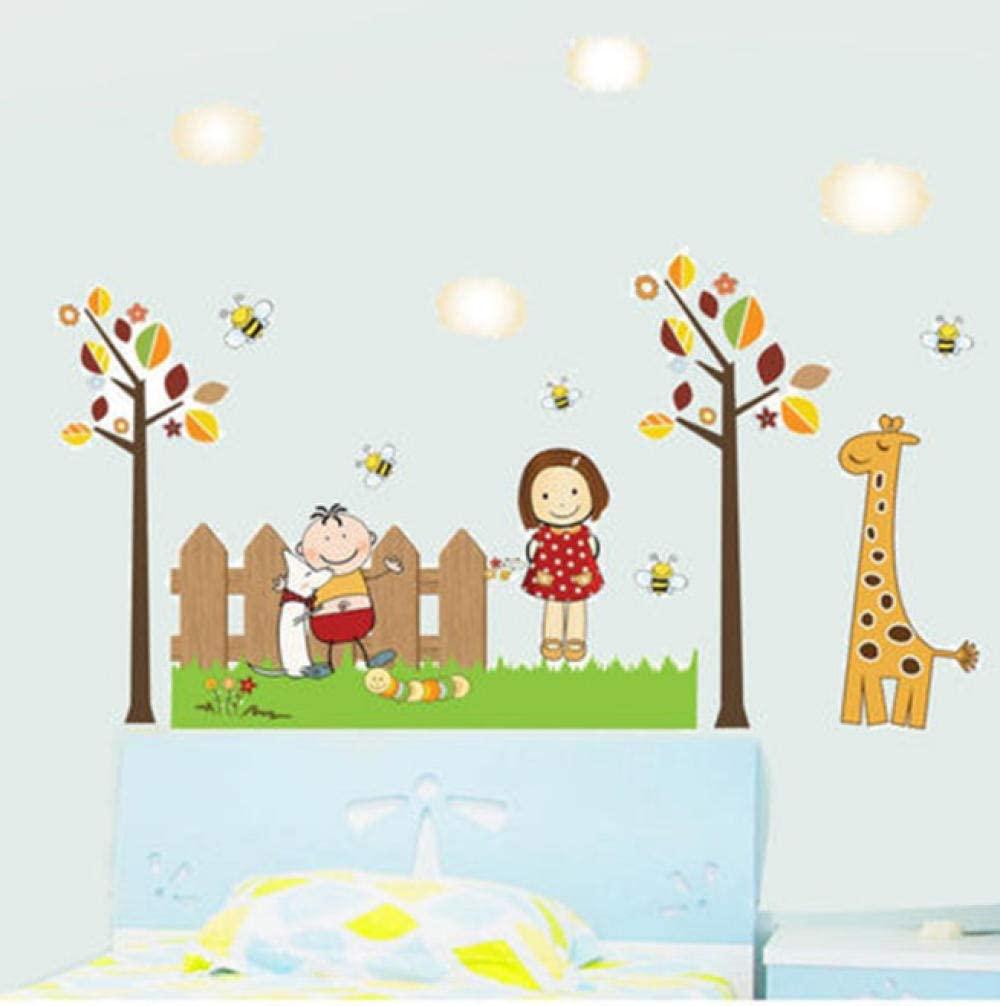 60 cm x 90 cm diseño de la habitación de los niños pegatinas de pared para bebés niño niña bebé dormitorio cabecera decoración de la pared pegatinas de dibujos animados de jardín de infantes