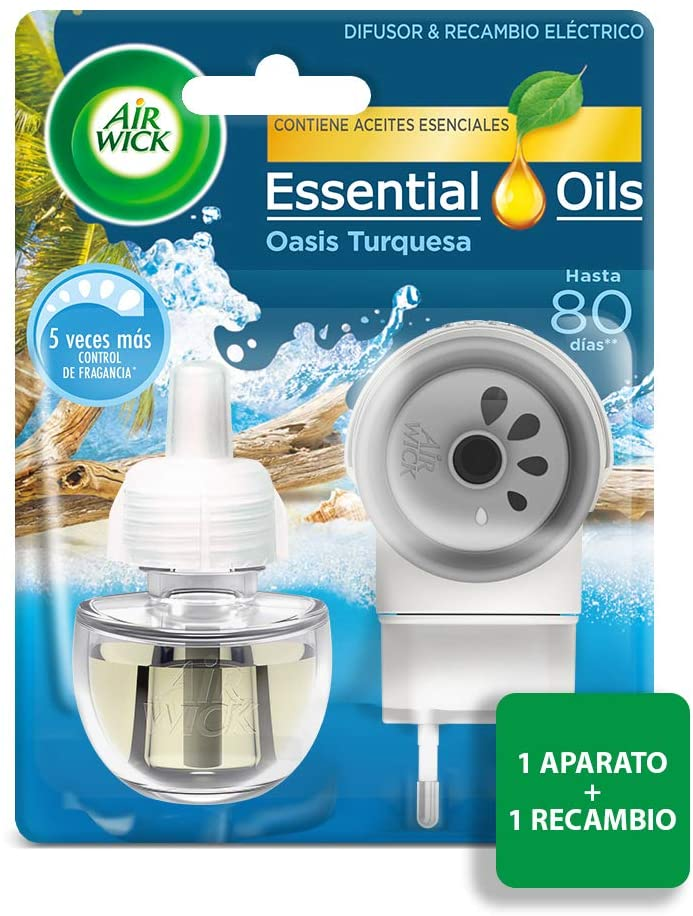 Air Wick Ambientador Eléctrico Completo Life Scents Oasis Turquesa 10%