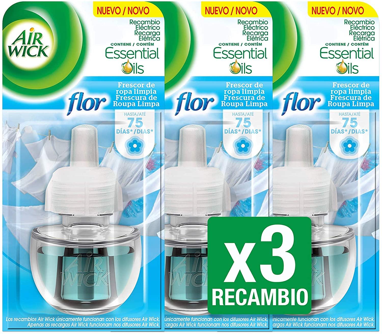Air Wick Flor - Ambientador eléctrico, recambio, 3 unidades x 19 ml, total de 57 ml