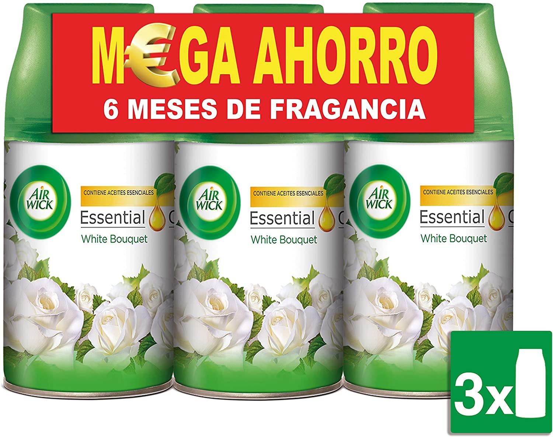 Air Wick White Bouquet Freshmatic - Ambientador para el hogar, recambio fragancia, pack de 3 x 250 ml, total de 750 ml