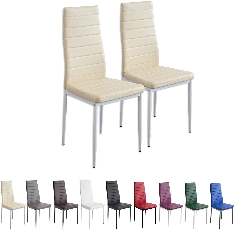 Albatros 2866 Milano Set de 2 sillas de Comedor, Beige