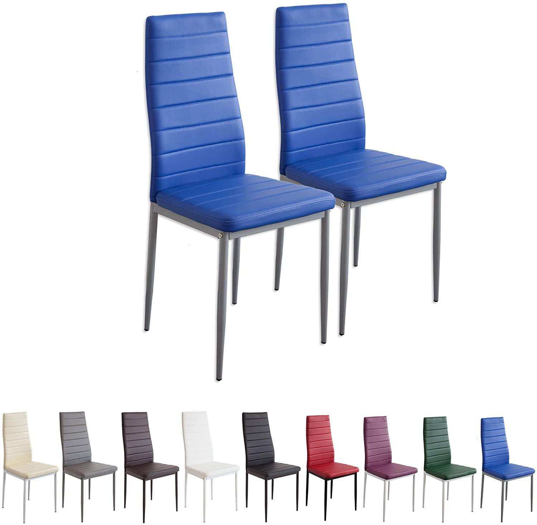 Albatros 2869 Milano Set de 2 sillas de Comedor, Azul