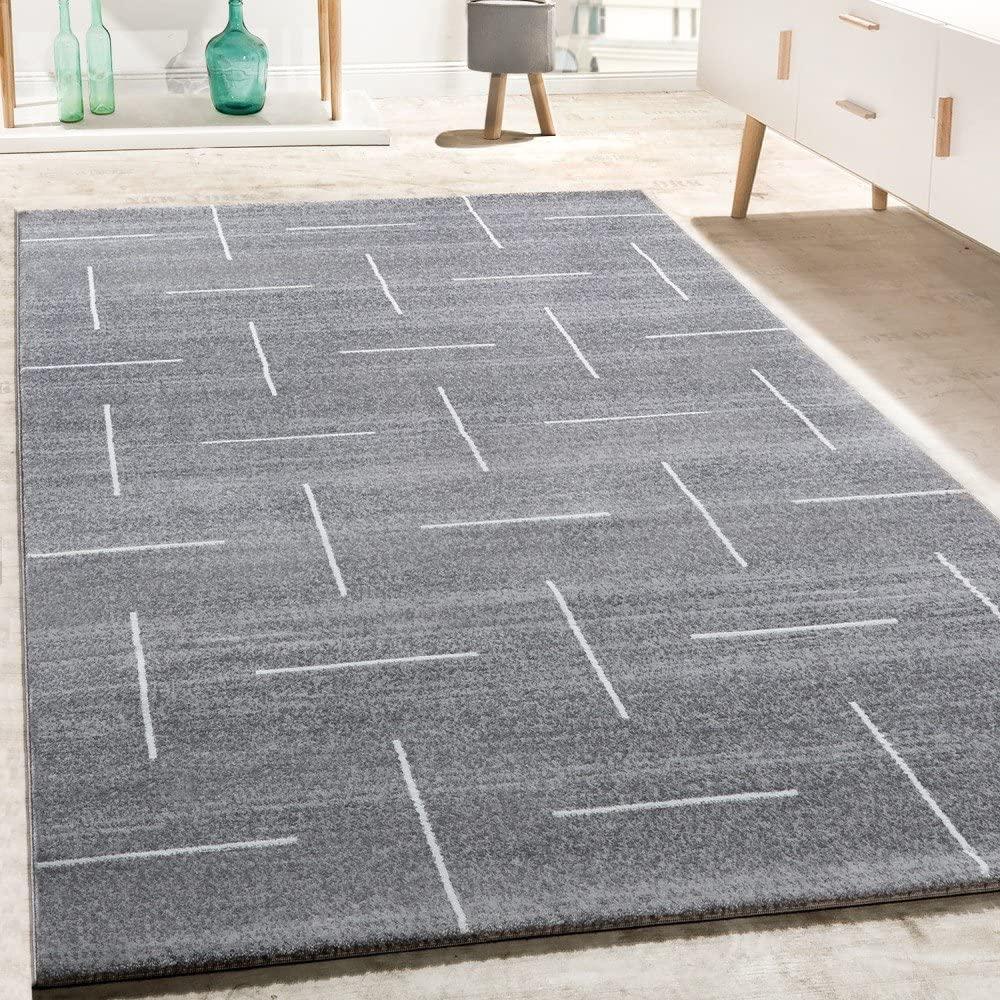 Alfombra De Diseño para Salón Moderna Jaspeada En Turquesa, Gris Y Blanco, tamaño:120x170 cm