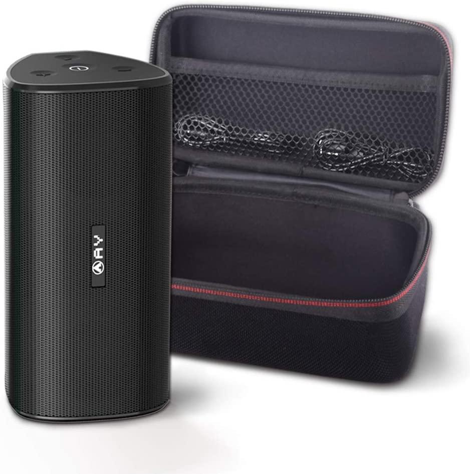 Altavoces portátiles AY 30W Bluetooth 4.2 con Estuche rígido, Altavoces inalámbricos IPX7 a Prueba de Agua, Sonido súper bajo 360 ° con TWS, 24H-Playbtime Fiestas, Aire Libre y Viajes.