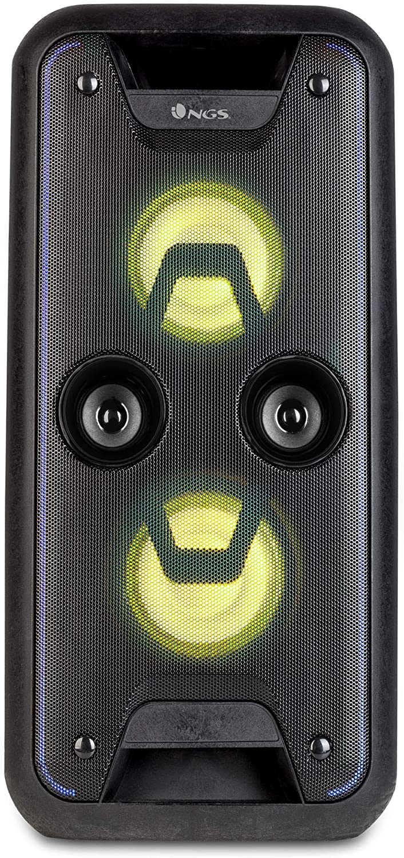 """Altavoz portátil USB/SD/Bluetooth/Radio FM con Doble subwoofer de 5,25"""" y 120W de Potencia- NGS"""