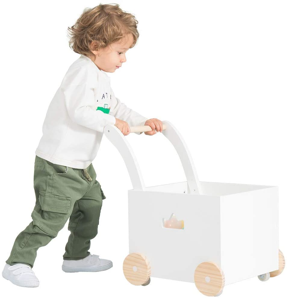 Andador de Madera, Uso 2 en 1 como Andador Bebe, El diseño de corona hueca Andador para 1-3 Años, Andador Actividades Bebe/Andador Bebe de Madera/Andador Bebé/Andador Bebe Madera