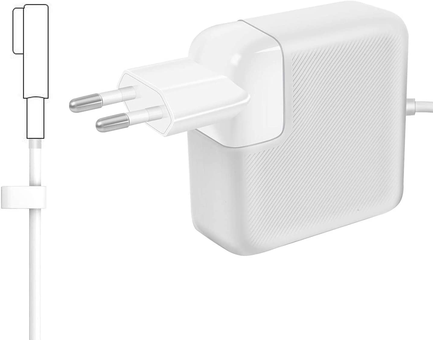 "AndMore Cargador Compatible con MacBook Pro, Cargador MacBook 60W MagSafe 1 Forma de L Adaptador de Corriente (para MacBooks Macbook Pro 11"" & 13"" Pulgadas, Antes de Mediados de 2012 2011 2010 2009)"