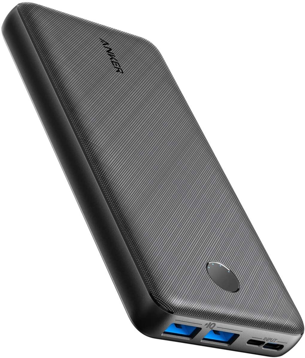 Anker Powerbank 20000 mAh Anker PowerCore Essential Bateria externa, con tecnología PowerIQ y entrada USB-C, cargador portatil de gran capacidad compatible con iPhone, Samsung, iPad y más