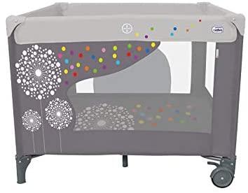 Asalvo 12487 - Parque cuadrado, diseño diente de león, color gris, 77 x 97 x 97 cm