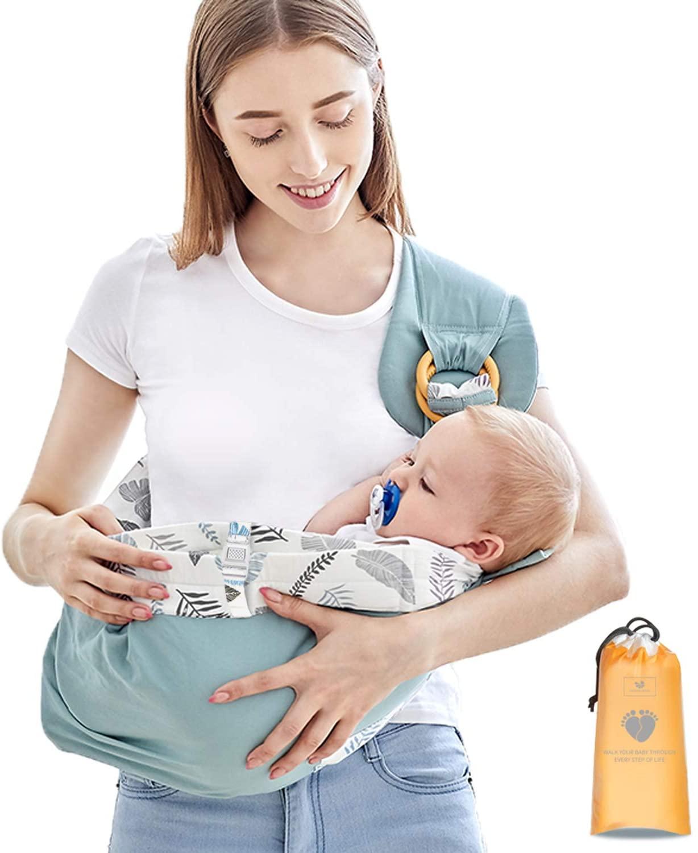 Azeekoom Mochila Portabebés Ergonómica, Mantas de Lactancia Fulares Portabebes con Cinturón de Fijación Big Pocket para Recién Nacidos Hasta Niños de 0 a 36 Meses