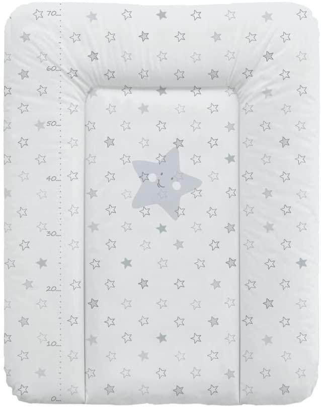 Babycalin - Colchón cambiador Confort Etoile de color beige, 50x 70cm–con un metro impreso gris Talla:50 x 70 cm