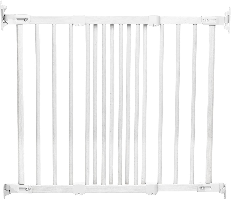 BabyDan - Puerta de seguridad Flexfit (madera), color blanco