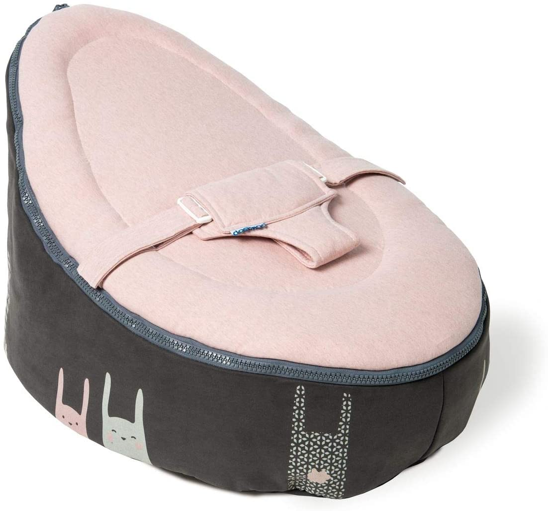 Babymoov A012390 - Tumbona para bebé doomoo nid rabbit pink