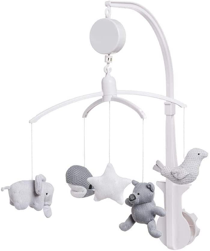Baby's Only - Muziekmobiel zilvergrijs/grijs/wit