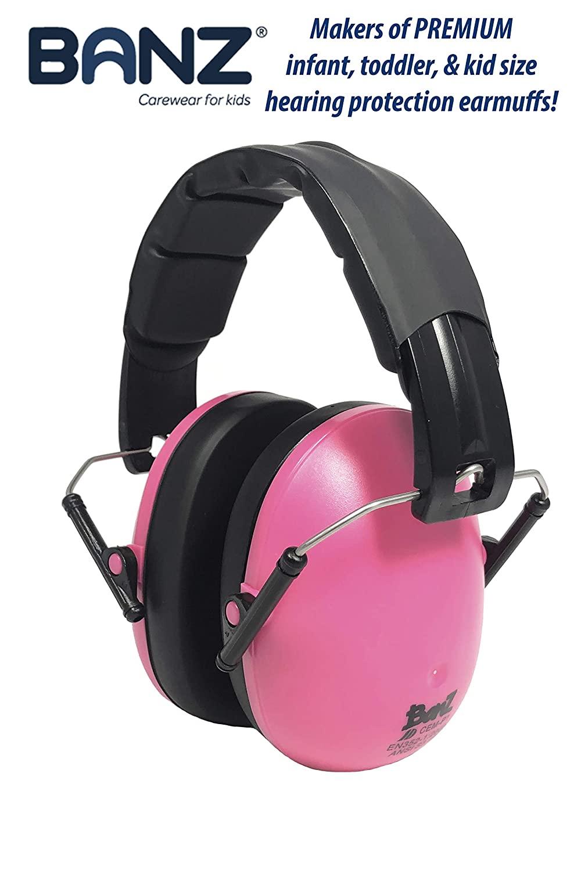 Banz Ear - Auriculares de Caza, Color Rosa, Talla 2-10 Years