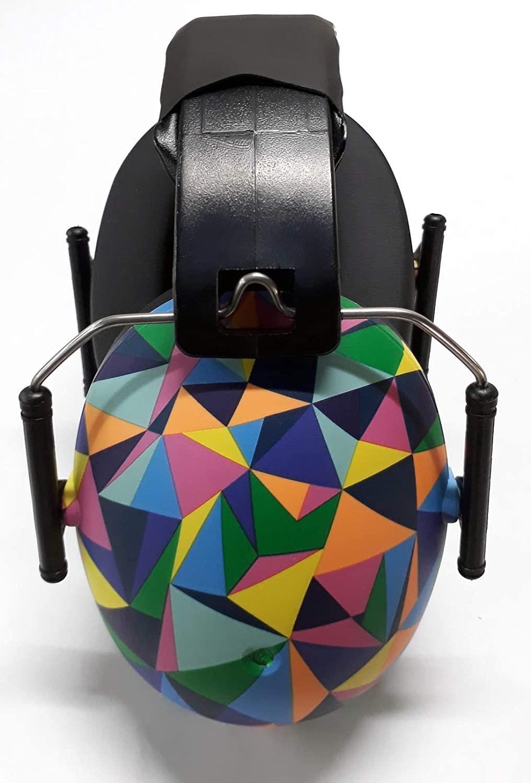 Banz Kidz Ear Defenders EM042 - Protector acustico con almohadillas para niños de 2 años en adelante (Kaleidoscopio)