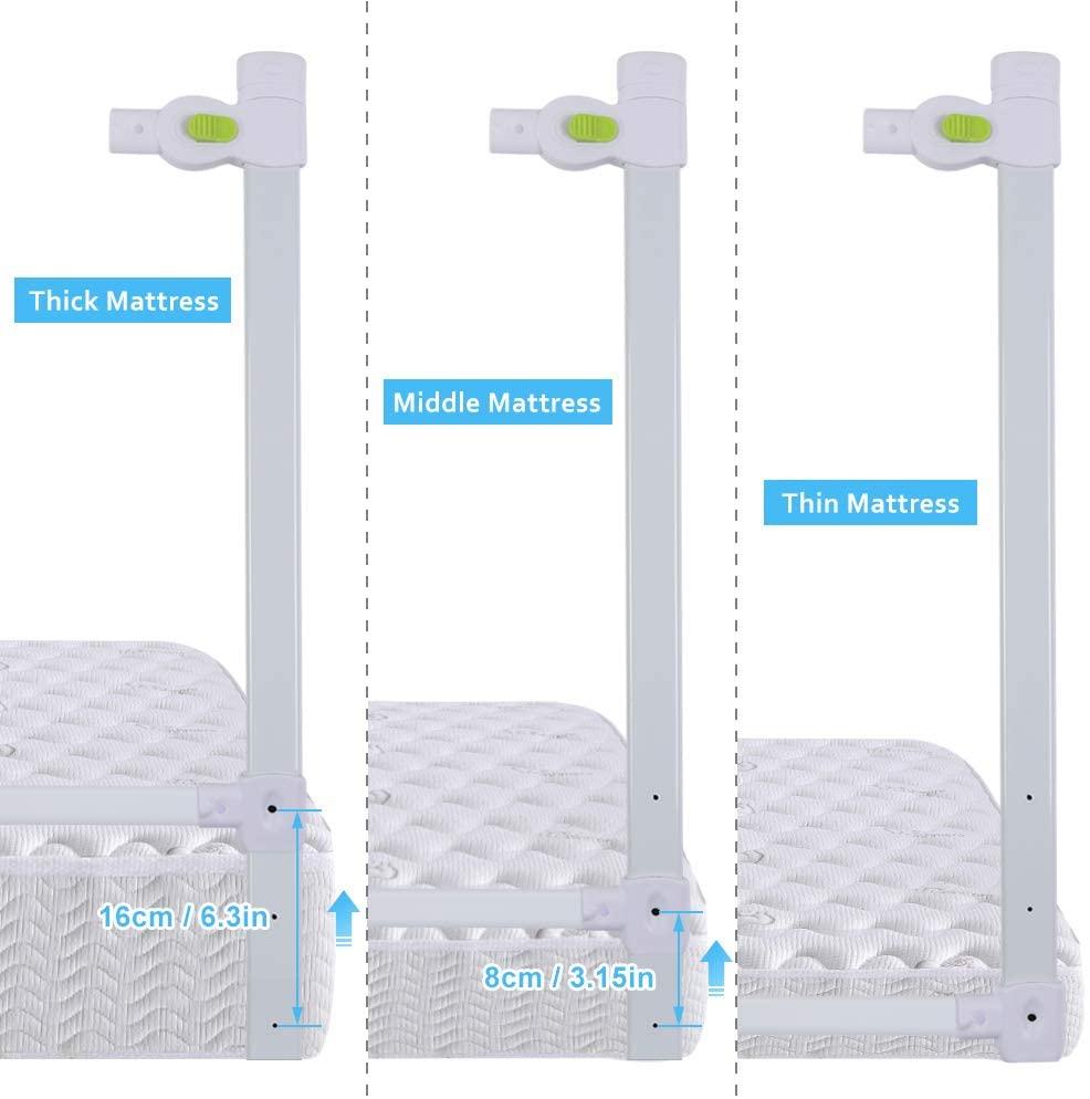 Barandilla de La Cama Guardia de Seguridad para Niños, Portátil Barrera de cama para bebé Protección contra caídas, Barandilla cama(180cm,150cm,200cm)(1.8)