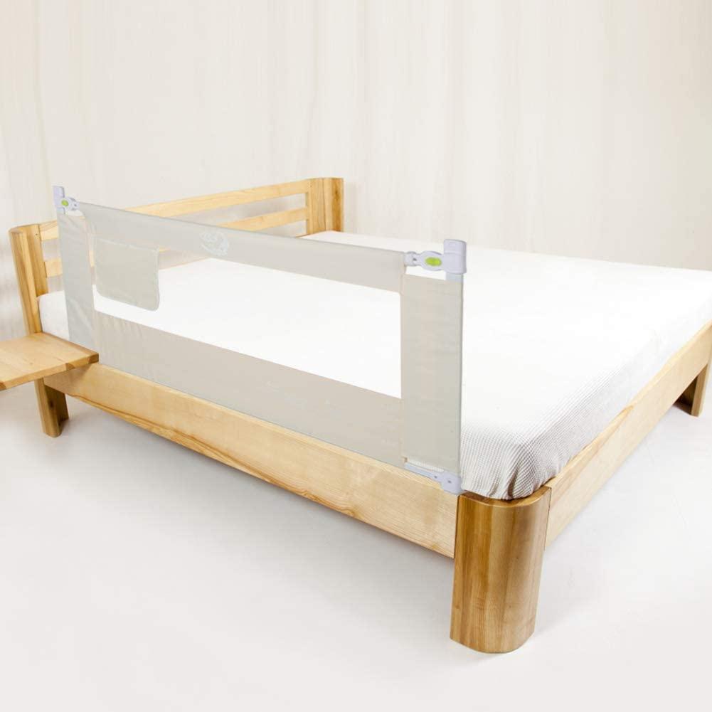 Barrera de cama, 150/180/200 cm, barrera de cama ajustable, barrera de protección para cuna, barrera para cama de bebé Talla:180CM