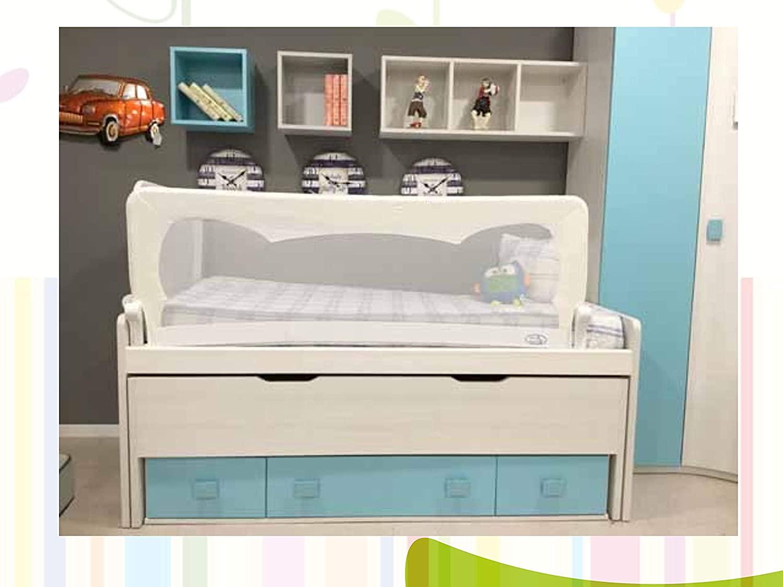 Barrera de cama para bebé, 150 x 65 cm. Modelo Blanco. Barrera de seguridad.
