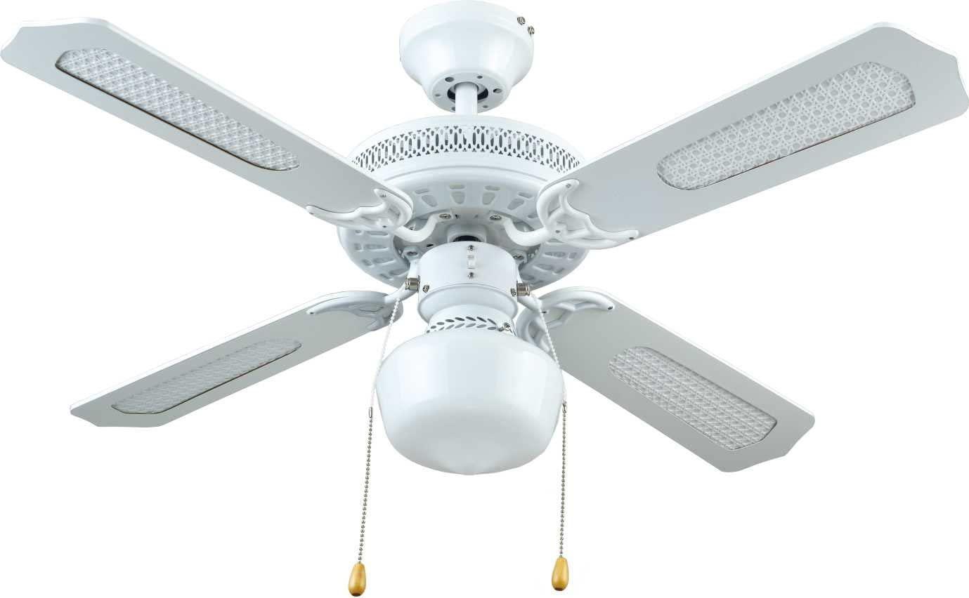Bastilipo Nerja Ventilador de Techo con Luz E27, 50 W, Blanco, 105 x 32 cm [Clase de eficiencia energética A++]