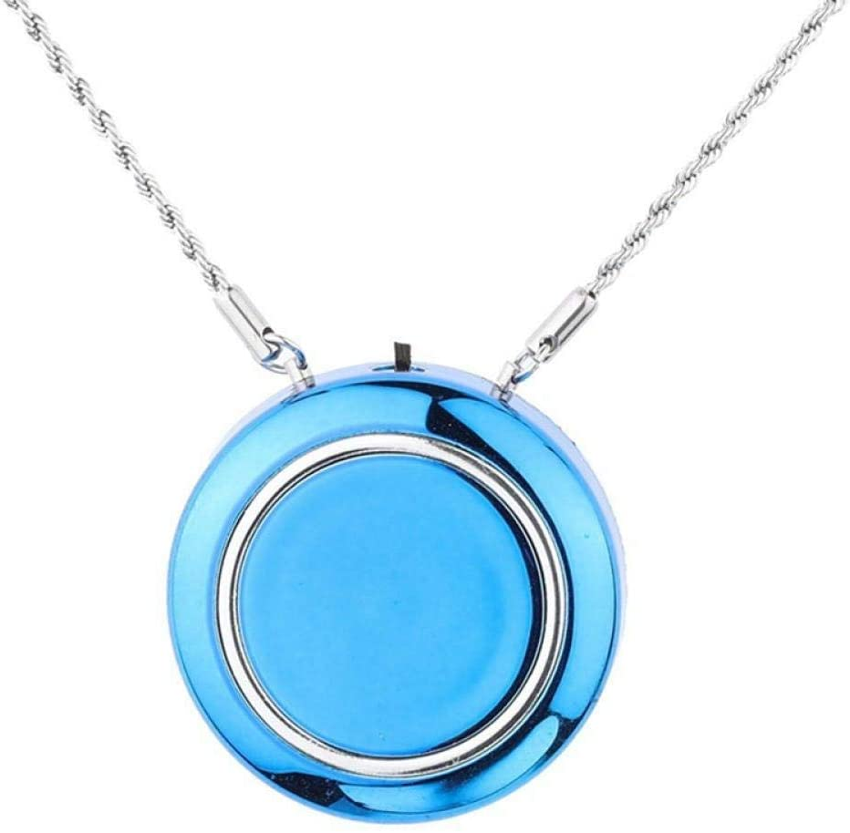 BBBB Collar purificador de Aire portátil/Mini ionizador de ambientador portátil/Generador de Iones Negativos/Eliminador de olores/Eliminar Humo Azul