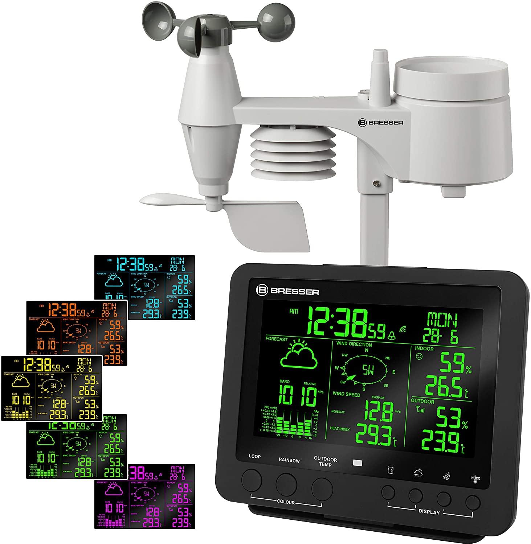 Bresser estación meteorológica (Center 5en 1con de 256Colores Dispay y Multi Sensor
