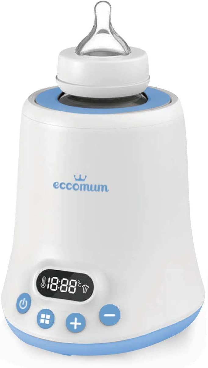 Calienta Biberones, Eccomum 6 en 1, Calentamiento Ultrarrápido, Descongelado y Esterilizador para Leche Materna/Fórmula/Potitos, LED, Temporizador, Apagado Automático