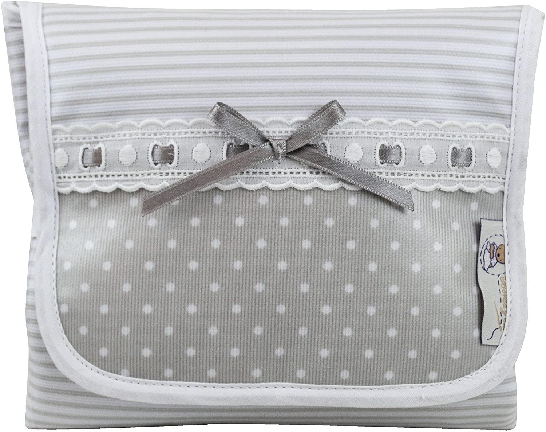 Cambiador portátil plastificado para bebés, Modelo Verona. Varios colores disponibles (gris)