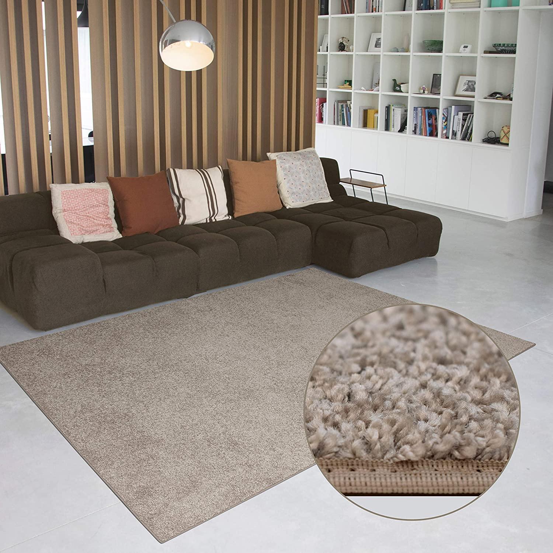 Carpet Studio Alfombra Suave al Tacto 160x230cm, Salón/Cocina/Dormitorio/Pasillo, Decoracion Habitacion, Fácil de Mantener, Camel