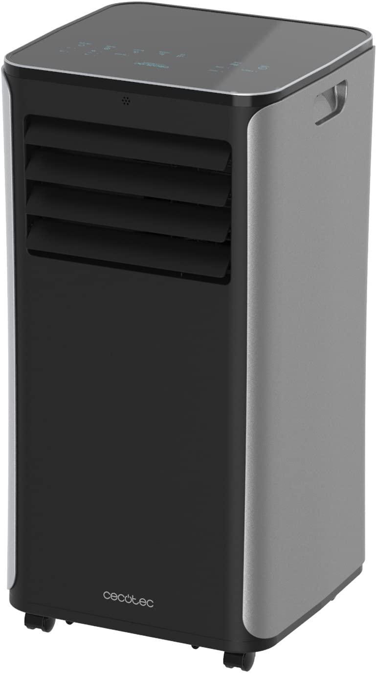 Cecotec Aire Acondicionado Portatil ForceSilence Clima 9050. 2270 Frigorías, 3 Funciones(Frío, Ventilador, Deshumidificador), Caudal 350m³/h, Programable 24h, Mando a Distancia