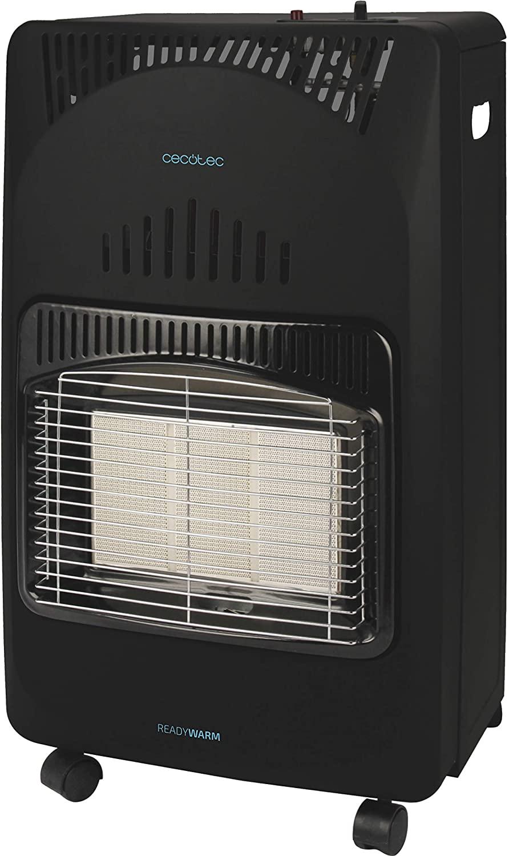 Cecotec Estufa Ready Warm 4000 Slim Fold. Plegable, Cerámica, 3 Modos, Bombonas de 10 Kg, Triple Sistema de Seguridad, 4 Ruedas multidireccionales, 4200 W [Clase de eficiencia energética A]
