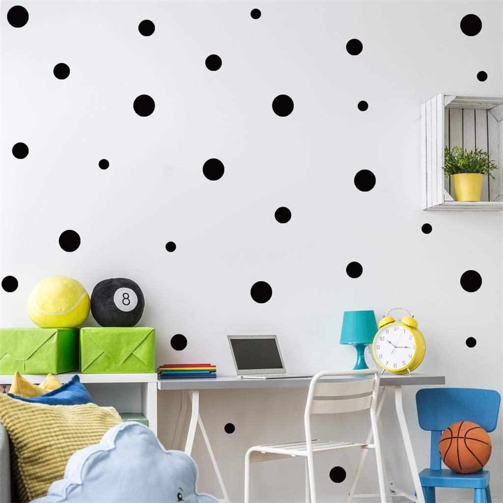 Celucke 2020 - Adhesivos decorativos para pared o ventana (4 unidades, 200 adhesivos), 5 cm para decoración de habitación del hogar, PVC, negro, talla única