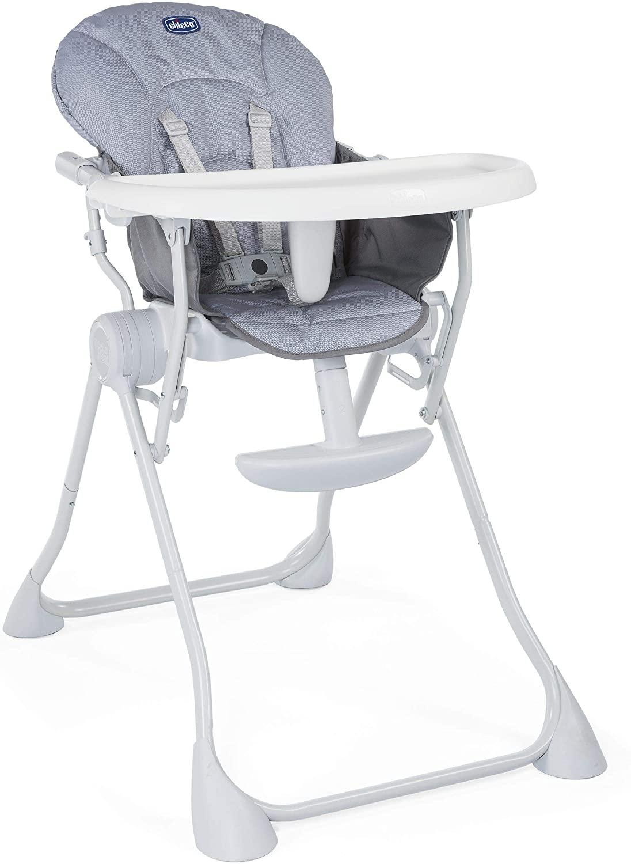 Chicco Pocket Meal Trona de viaje ligera y compacta, para niños de 6meses a 3 años, color gris (Nature)