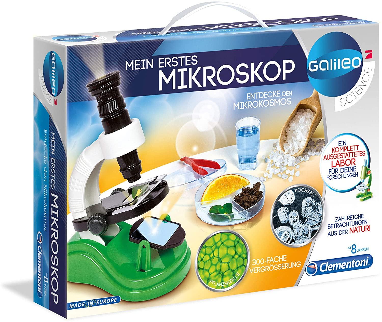 Clementoni 8005125590117 - Juguetes y kits de ciencia para niños (Varios, Microscopio, 8 año(s), Niño/niña, Multicolor, 350 mm)
