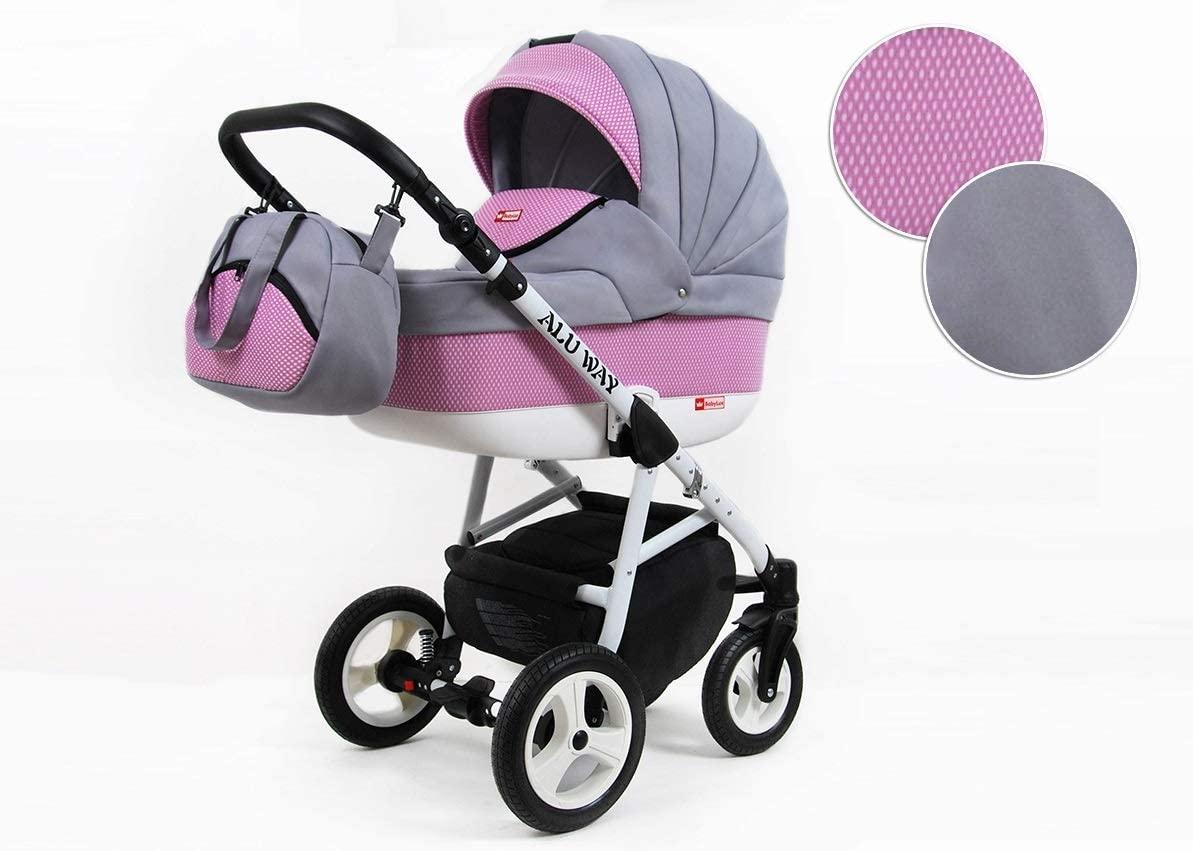 Cochecito de bebe 3 en 1 2 en 1 Trio Isofix silla de paseo LightWeight by SaintBaby Light Pink 4in1 con Isofix + Silla