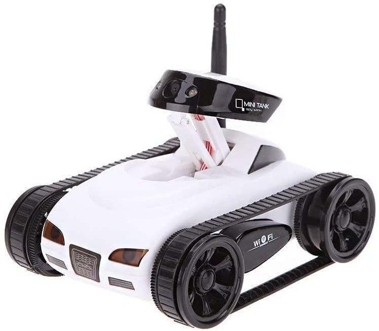 Coches Mini RC WiFi Tank Robot 777-270 con el Control Remoto de la cámara de 0.3MP de iPhone Android Phone RC Tank Juguetes para niños