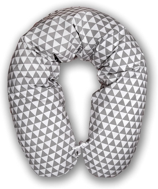 Cojín para embarazo y lactancia tinta cojín para dormir durante el almohada para dormir de lado. Funda 170 cm XXL breit mosaico colour gris (A18)