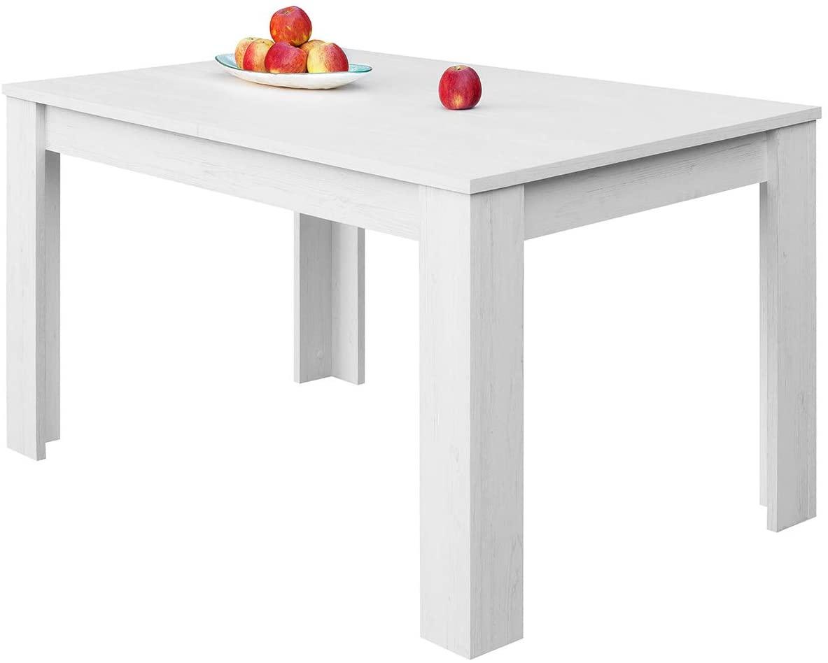COMIFORT – Mesa De Comedor Extensible Moderna de 120 a 170 cm, Medidas 120/170x75x78 cm, Disponible en Colores: Blanca, Blanco/Roble, Roble, Wengué, Nordic (Nordic)