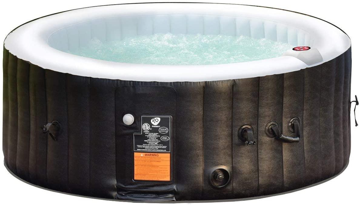 COSTWAY SPA Hinchable para 4 Personas 800 litros Bañera Jacuzzi de Redondo