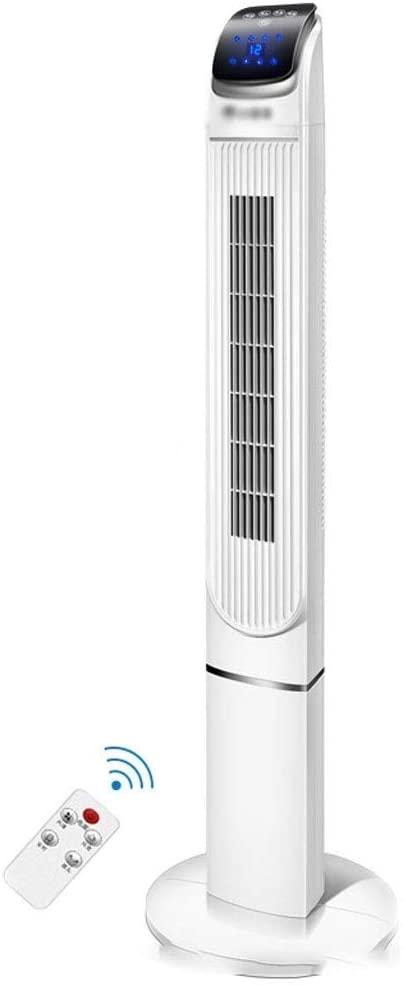 CPU de enfriadores de aire, ventilador de torre giratoria con control remoto y temporizador Temporizador de 12 horas Operación de pantalla táctil Sala de estar Dormitorio Oficina Comercial Blanco