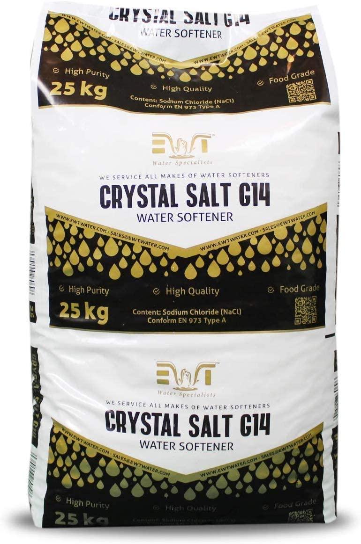 Cristales de 25 Kg Sal para descalcificadores de agua Water2buy EWT