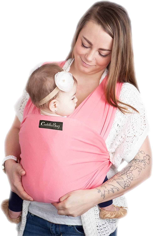 Regalo para la nueva mam/á 0.58Mx5.3M para beb/és reci/én dentro de los 16 KG M/étodo de espalda multifuncional Algod/ón suave y Comfort Spandex AniKigu Fular Portabeb/és Ideal para lactancia materna