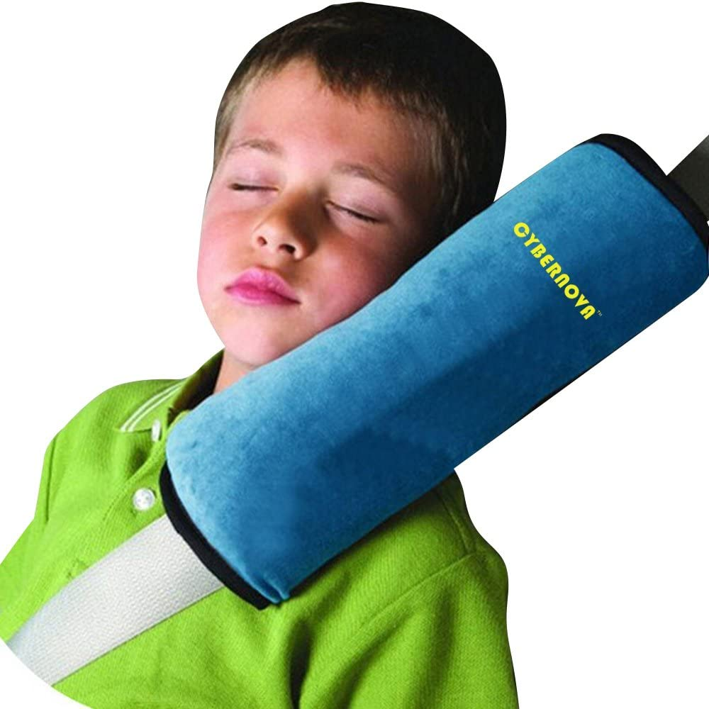 CYBERNOVA Child Kid Car Vehicle Seat Belt Harness Shoulder Pad Cover Cushion Head Support