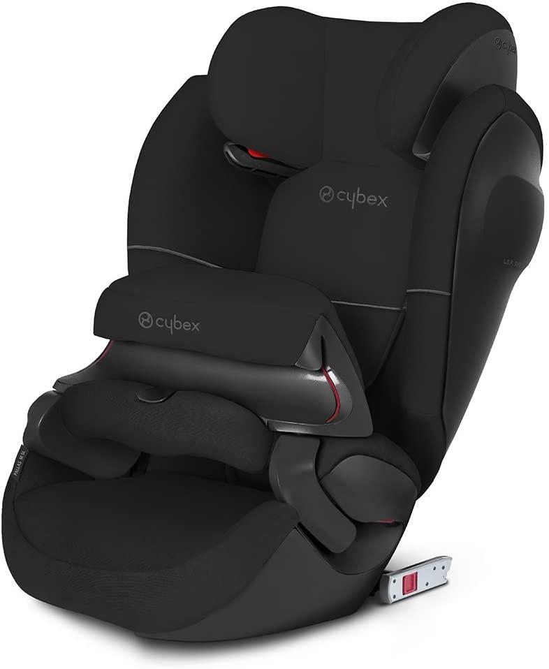 Cybex - Silla de coche grupo 1/2/3 Pallas M-Fix SL, silla de coche 2 en 1 para niños, para coches con y sin ISOFIX, 9-36 kg, desde los 9 meses hasta los 12 años aprox.Pure Black