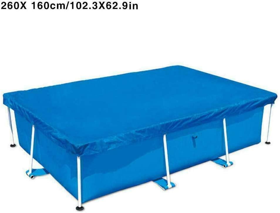 Delisouls Resistente Rayos UV Cobertor de Piscina, Rectangular Natación Impermeable a Prueba de Polvo Duradero Cubierta, Marco Cobertor de Piscina para Cuadrado sobre Suelo Piscinas