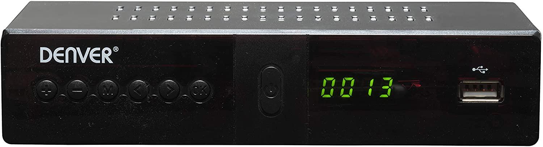 Denver Electronics DTB-133 Terrestre Alta Definición Total Negro TV Set-Top Boxes - Reproductor/sintonizador (Terrestre, DVB-T2, 720p,1080p, H.264,MPEG1,MPEG2,MPEG4, Negro, Digital) [Clase de eficiencia energética A+]