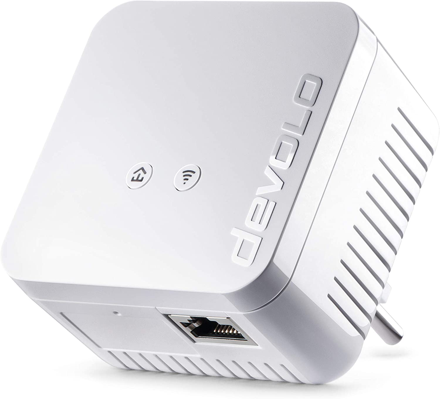 Devolo dLAN 550 WiFi (Internet de 500 Mbit/s a través de la red eléctrica, 300 Mbit/s a través de WiFi, 1 puerto LAN, 1 adaptador Powerline, adaptador de red PLC, amplificador de WiFi, WiFi Booster, WiFi Move) color blanco