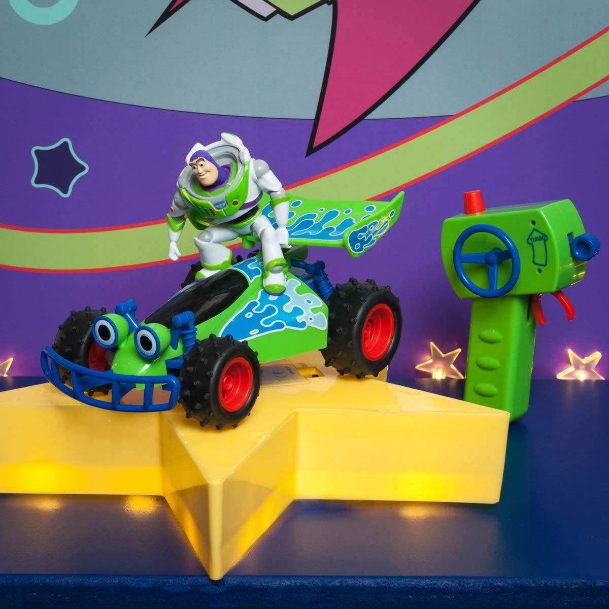 Dickie-RC Toys 201134004 Toy Story Buggy-Coche teledirigido (Escala 1:24, 20 cm), Color Verde/Blanco/Azul
